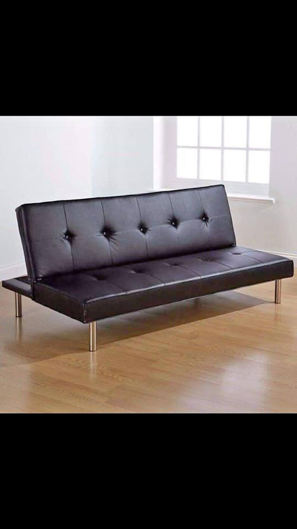 Strange Flat Pack Click Clack Sofabed In Black Or Br In E1 London Machost Co Dining Chair Design Ideas Machostcouk