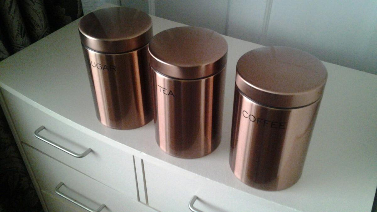 Copper Look Tea Coffee Sugar Canister In Thornley For 600