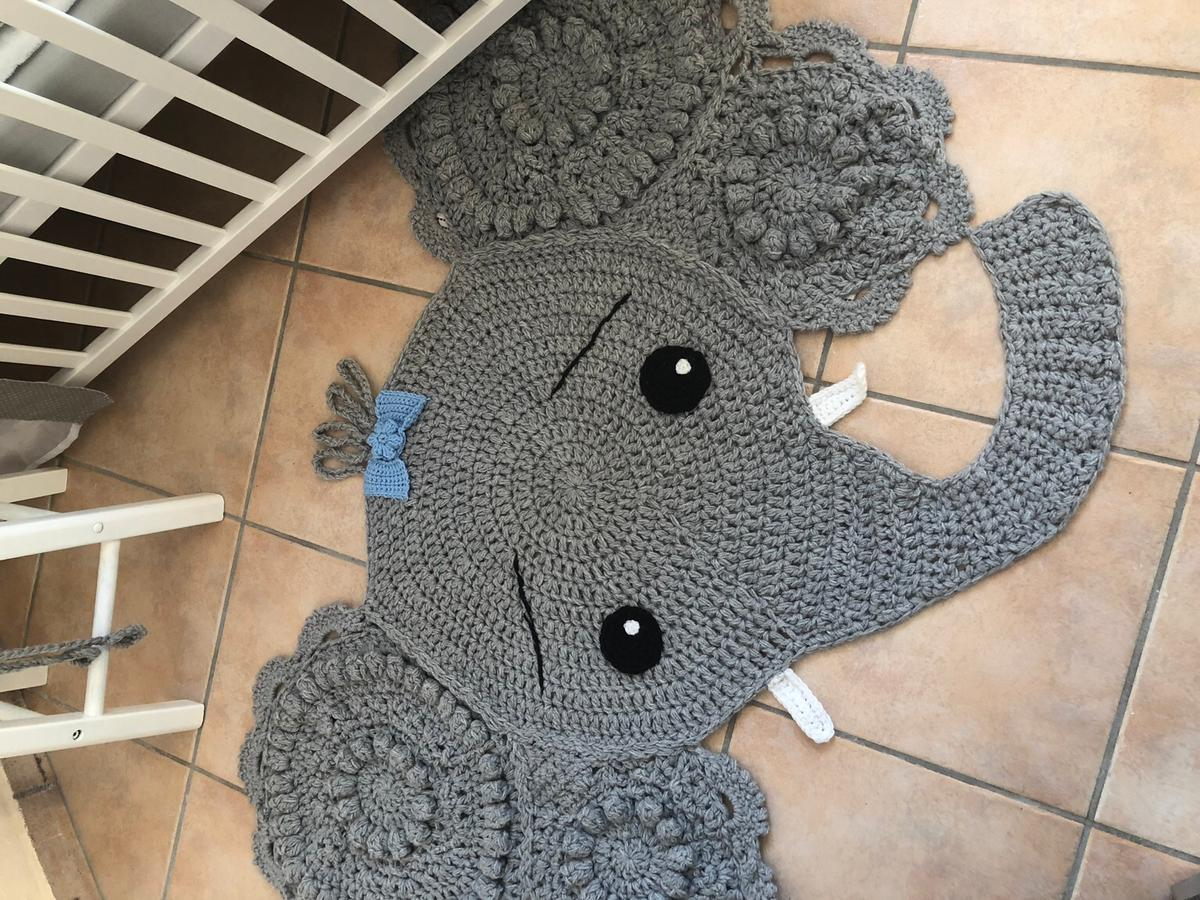 CROCHET ELEPHANT PILLOW...so cute!! Get... - Kitchen Fun With My 3 ... | 900x1200