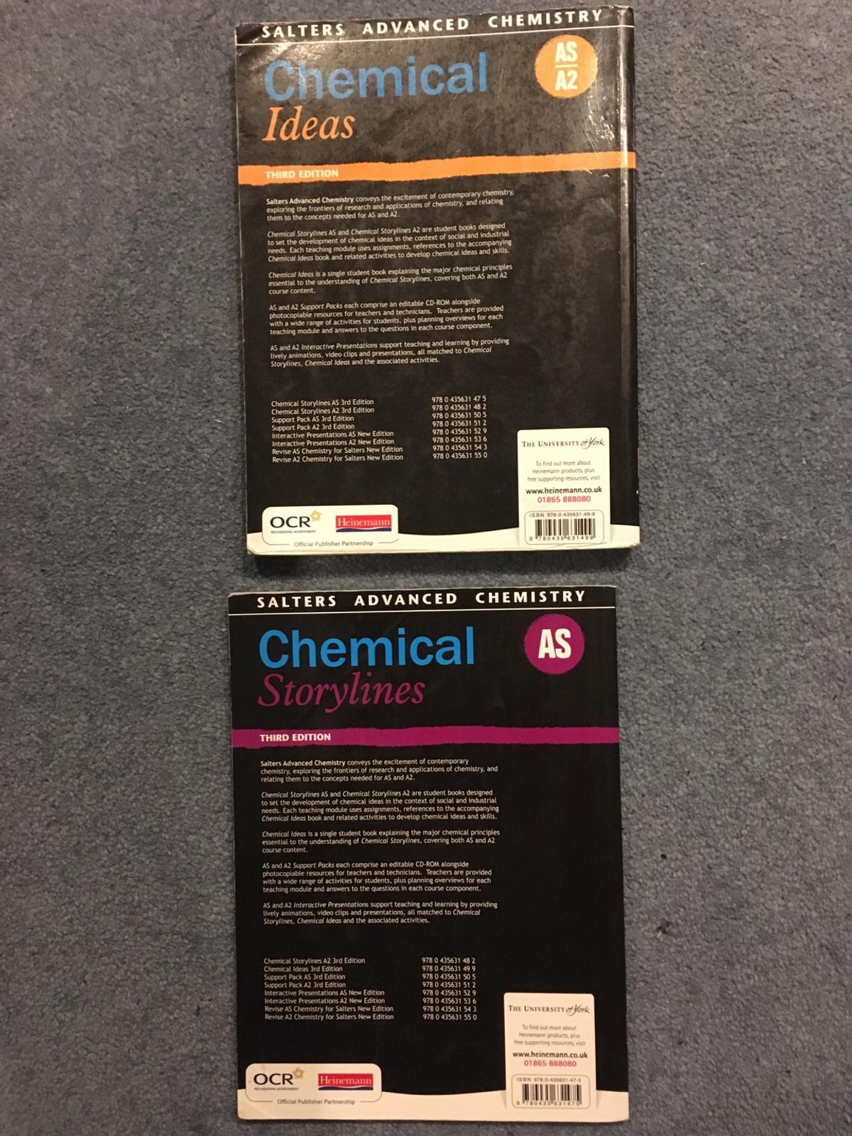 A Level chemistry textbooks in NR18 South Norfolk for £15 00