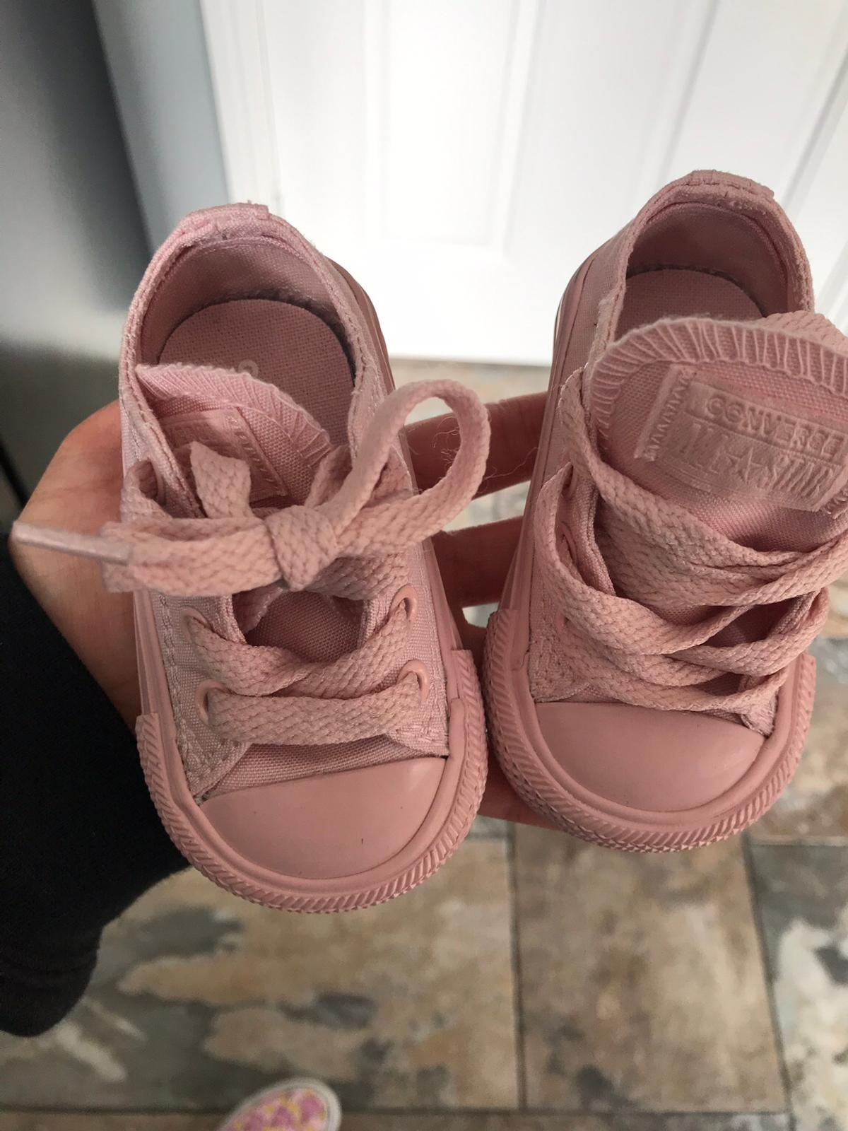 bec5a0b2e06b2e Blush pink baby Converse size 3 in NE61 Ashington for £12.00 for ...
