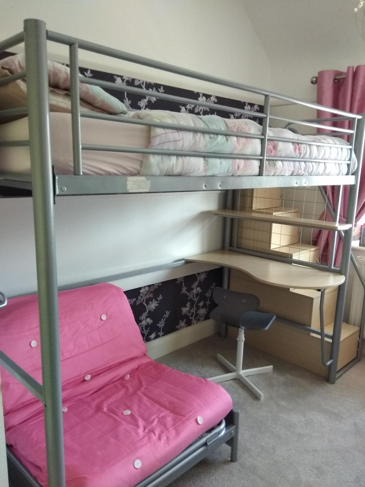 Childrens Bunk Bed Desk And Futon Chair In Ch43 Wirral For