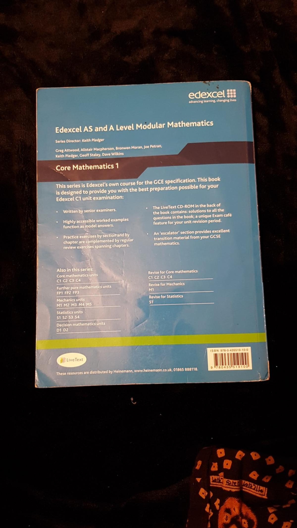 C1 Edexcel AS and A level in E7 Newham for £10 00 for sale