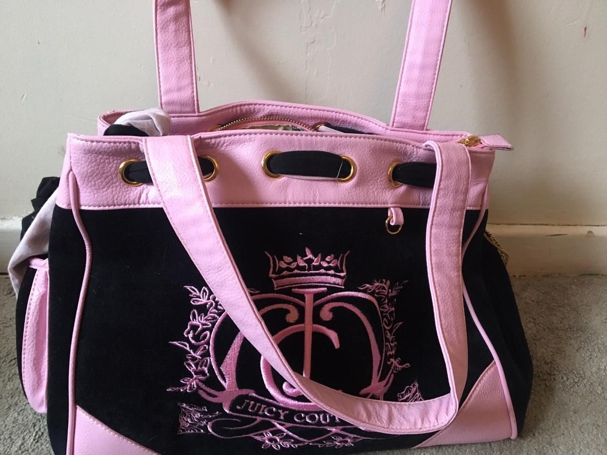 pink and black juicy couture bag