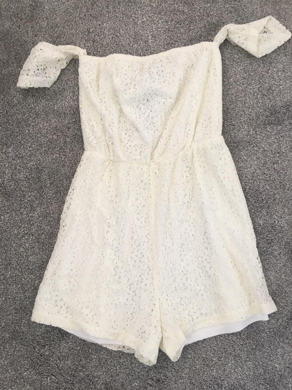 6260371ee8 Fashion Union cream lace Playsuit Size 10 new in B44 Walsall for ...