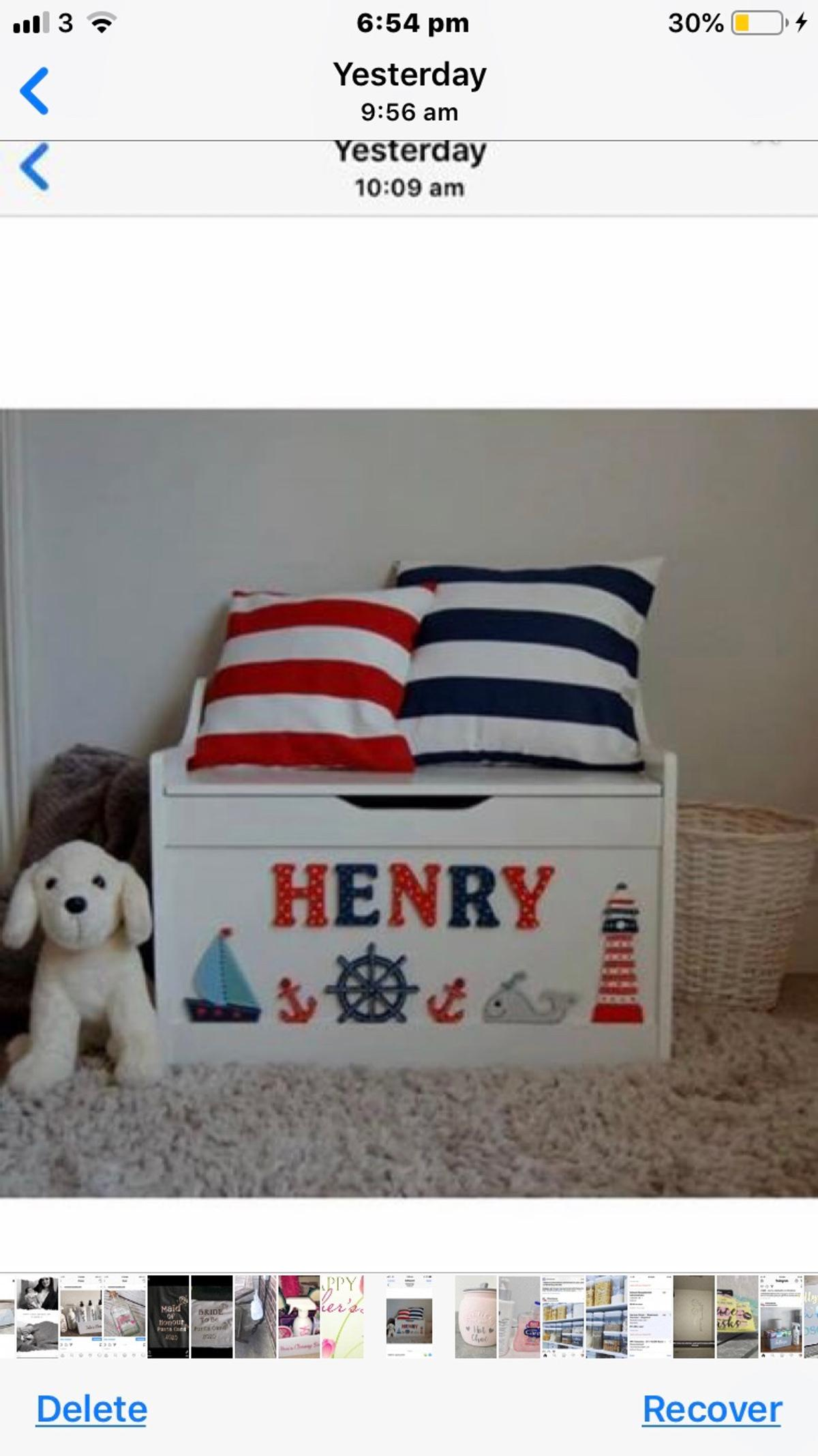 Personalised toy box in Wigan for £85
