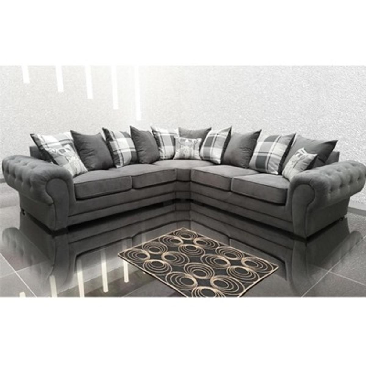 Brand New Fabric Grey Ibiza Corner Sofa