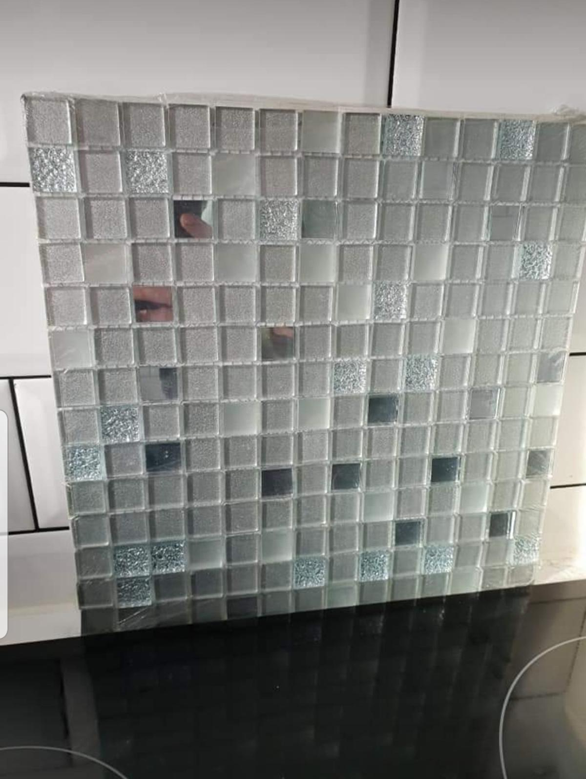 mosaic tiles from wickes silver
