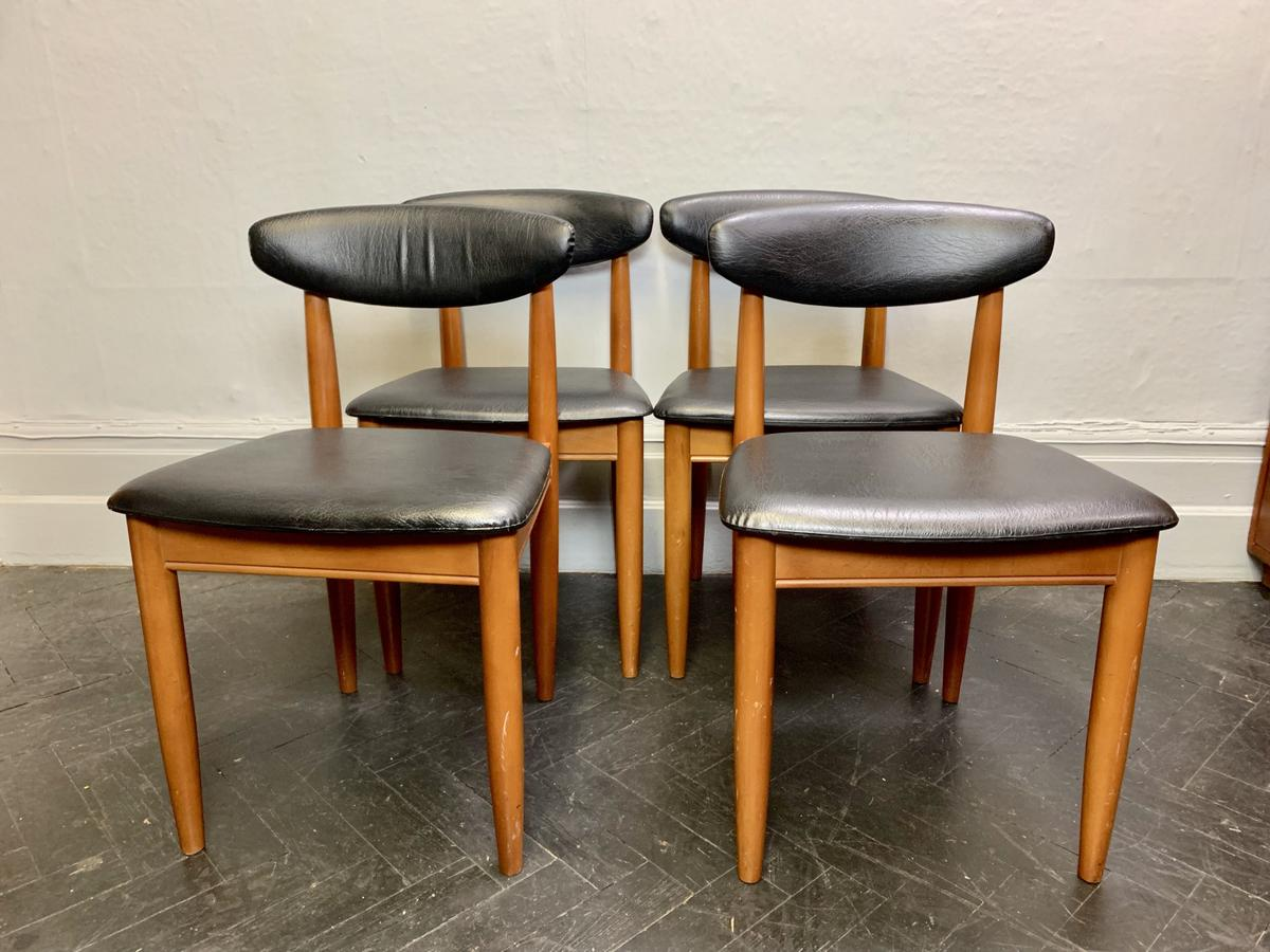 Peachy Set Of 4 Vintage Dining Chairs Black Vinyl In E3 London Fur Gmtry Best Dining Table And Chair Ideas Images Gmtryco