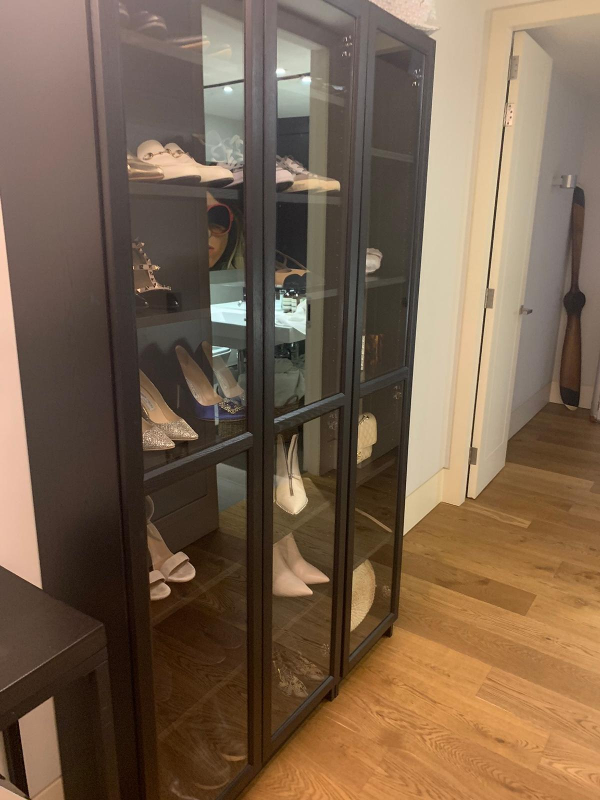 Ikea Billy Oxberg Bookcases With Glass Doors