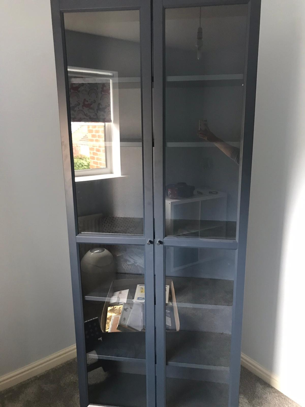 new style 3bea3 e4e86 Ikea Billy bookcase, blue with glass doors in WF3 Leeds for ...