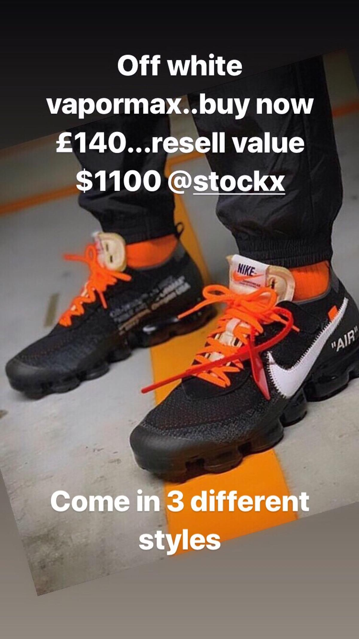 Nike Air Vapormax Off White Flyknit 2 0 in BA2 8HY Peasedown