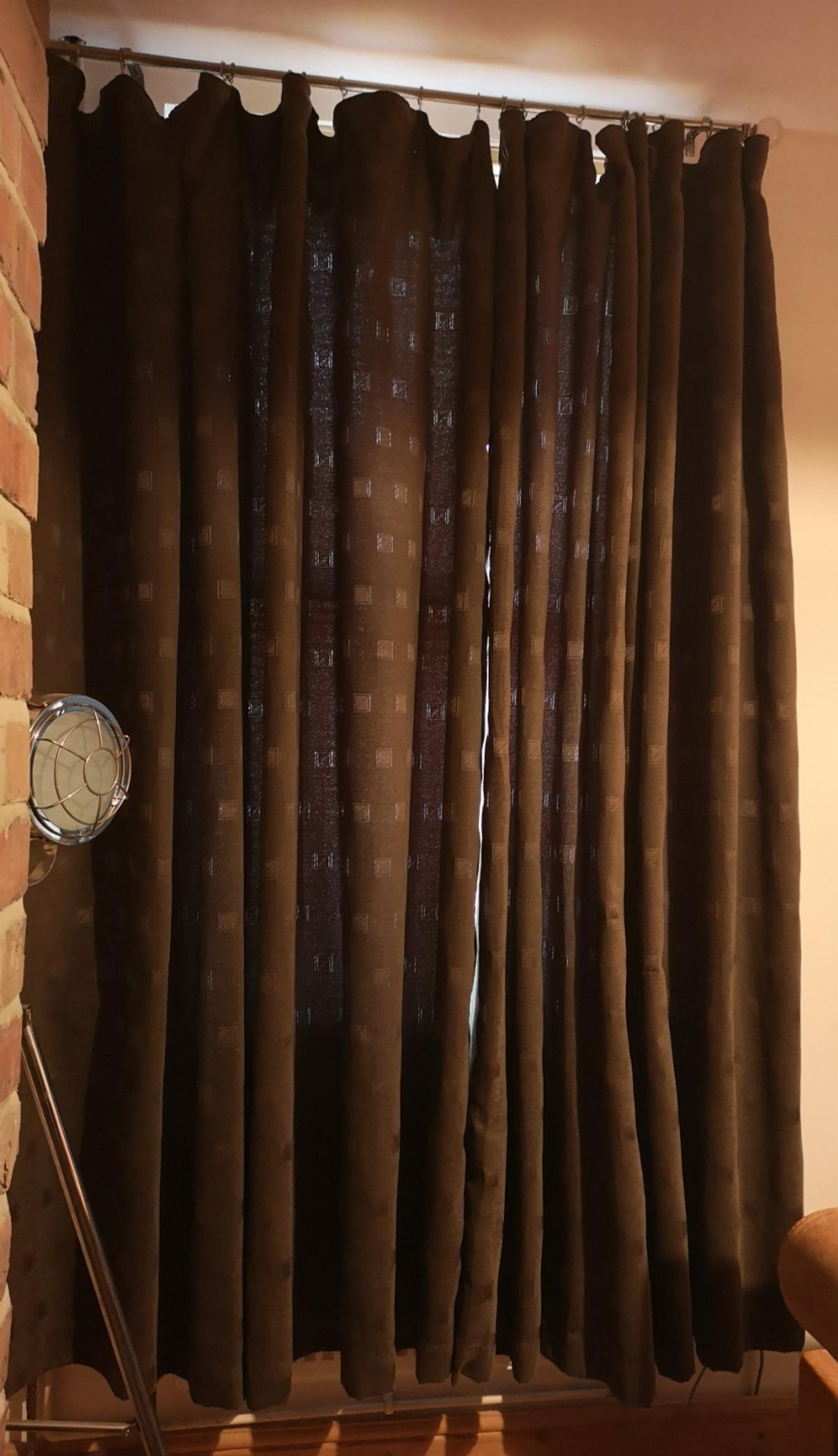 Free Extra Long Dark Brown Dunelm Curtains In De24 Derby For Free For Sale Shpock
