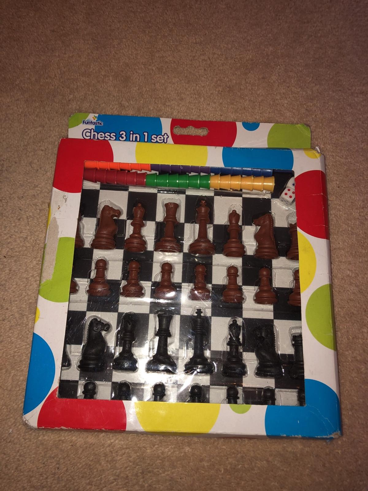 Chess 3 in 1 set in SW10 Chelsea for £1.00 for sale   Shpock