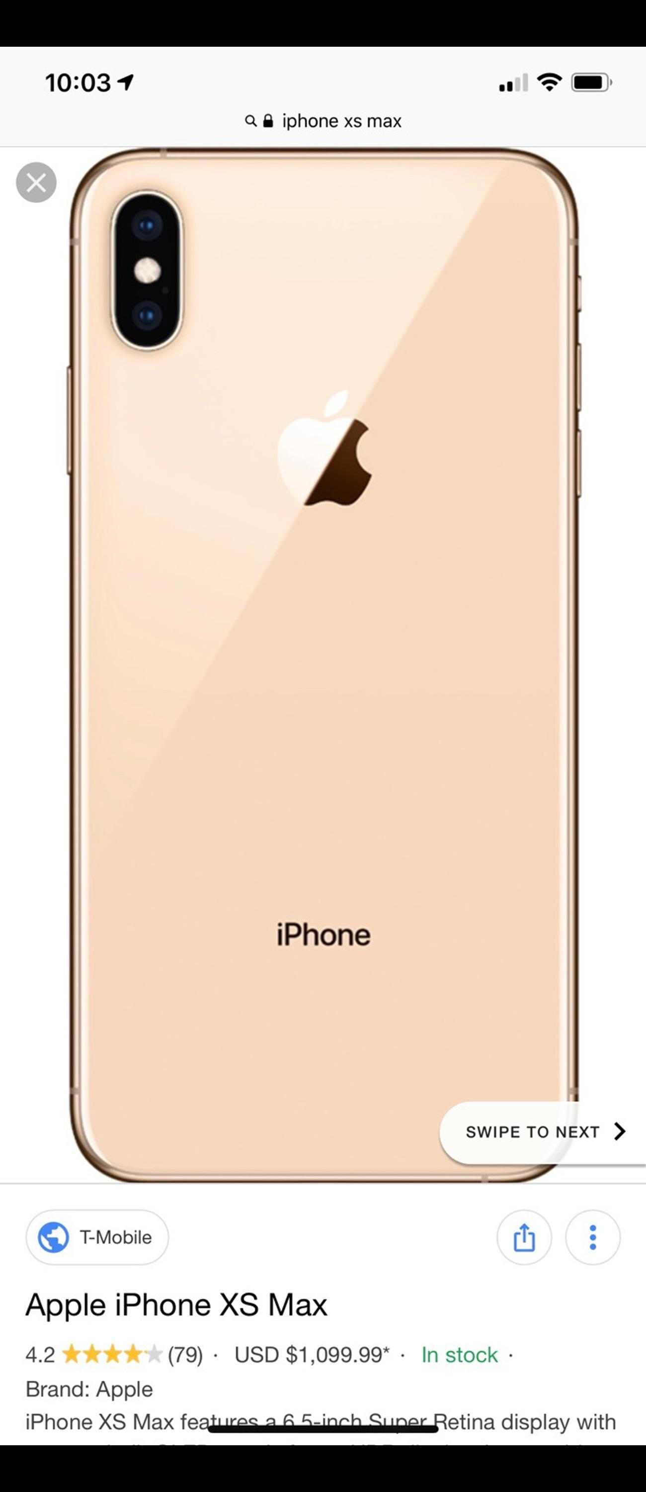 the latest 94b26 1cb82 iPhone XS Max Gold EE 64GB