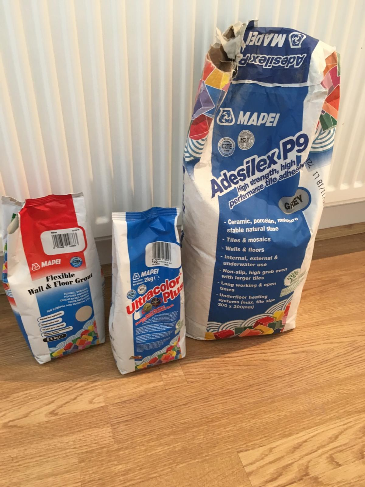 Mapei floor and wall grout and adhesive