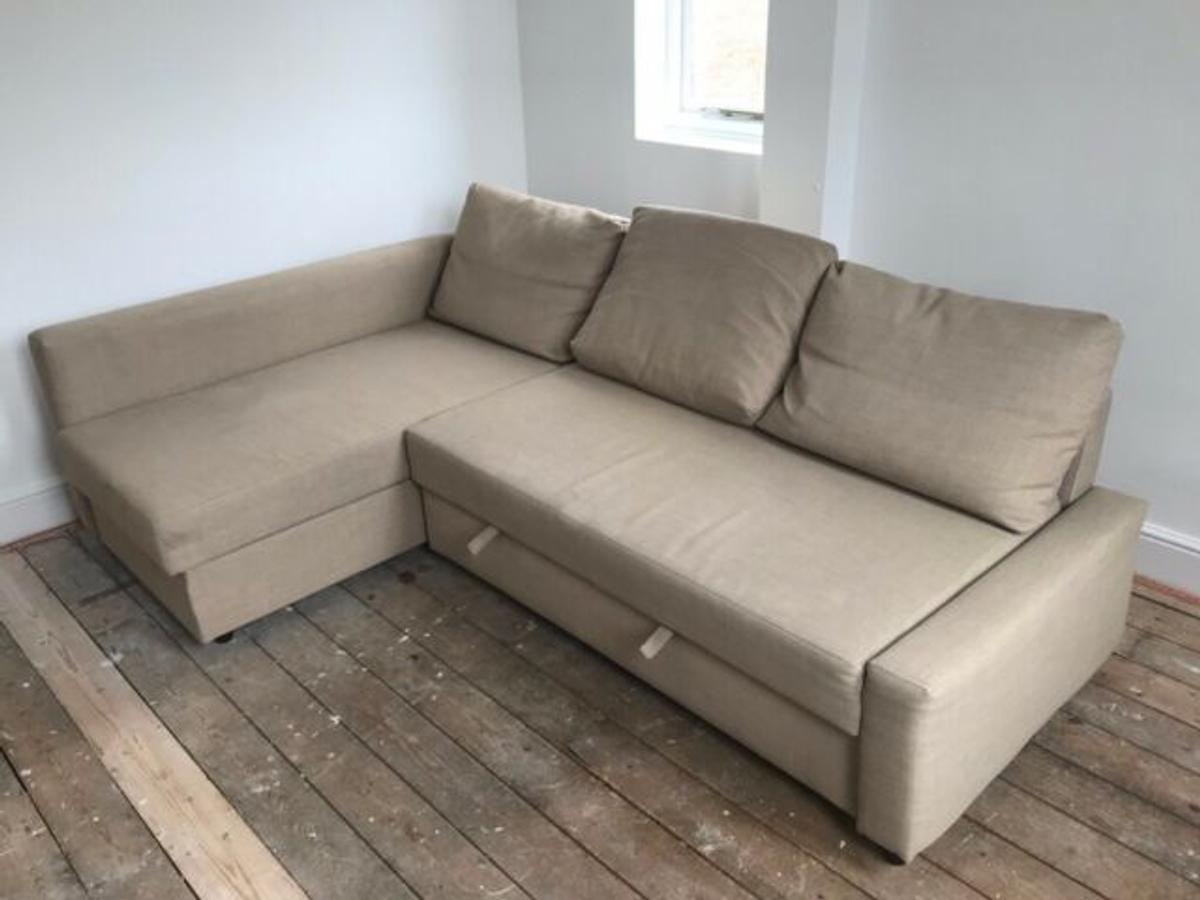 beige ikea corner sofa bed delivery available