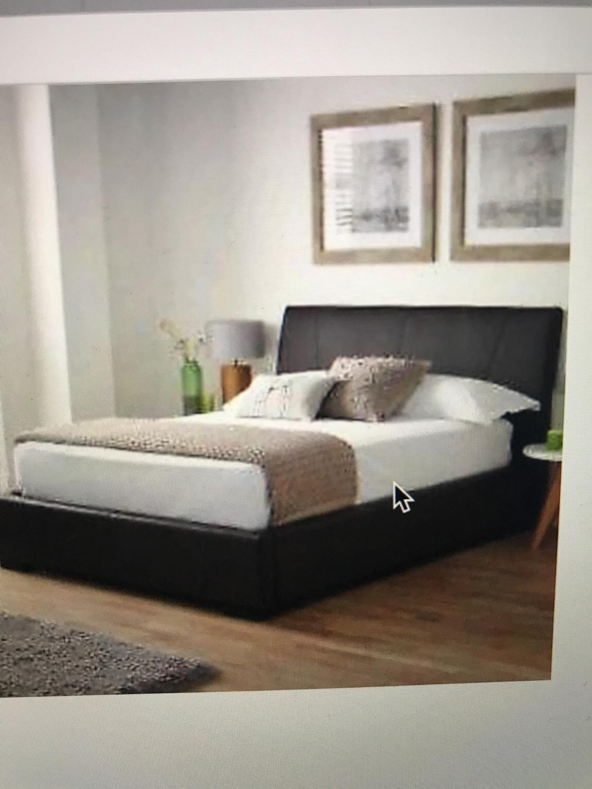 Awe Inspiring Double Chocolate Brown Ottoman Bed Ibusinesslaw Wood Chair Design Ideas Ibusinesslaworg