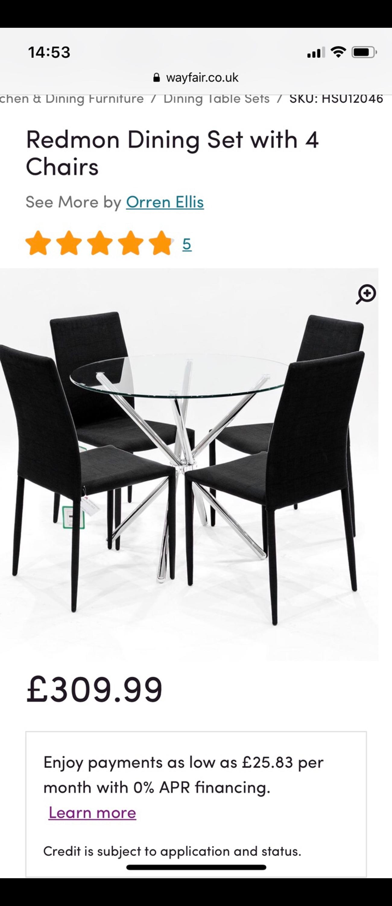 Amazing Wayfair Round Dining Table With 4 Chairs Download Free Architecture Designs Madebymaigaardcom