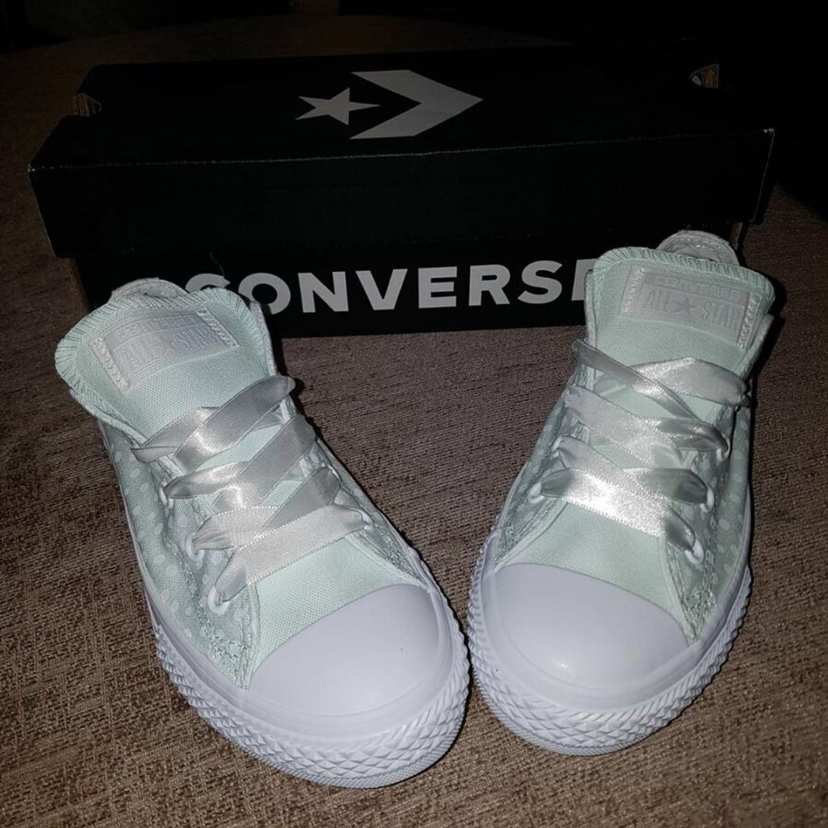 2b85b20a81cb83 Girls CONVERSE light green Shoes Size 1 NEW in BL5 Westhoughton for ...