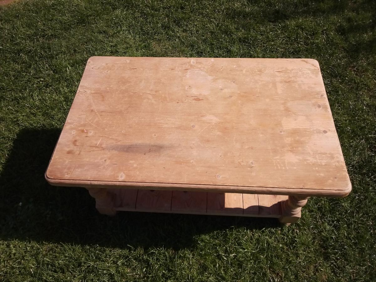 Solid Pine Coffee Table.Old Solid Pine Coffee Table