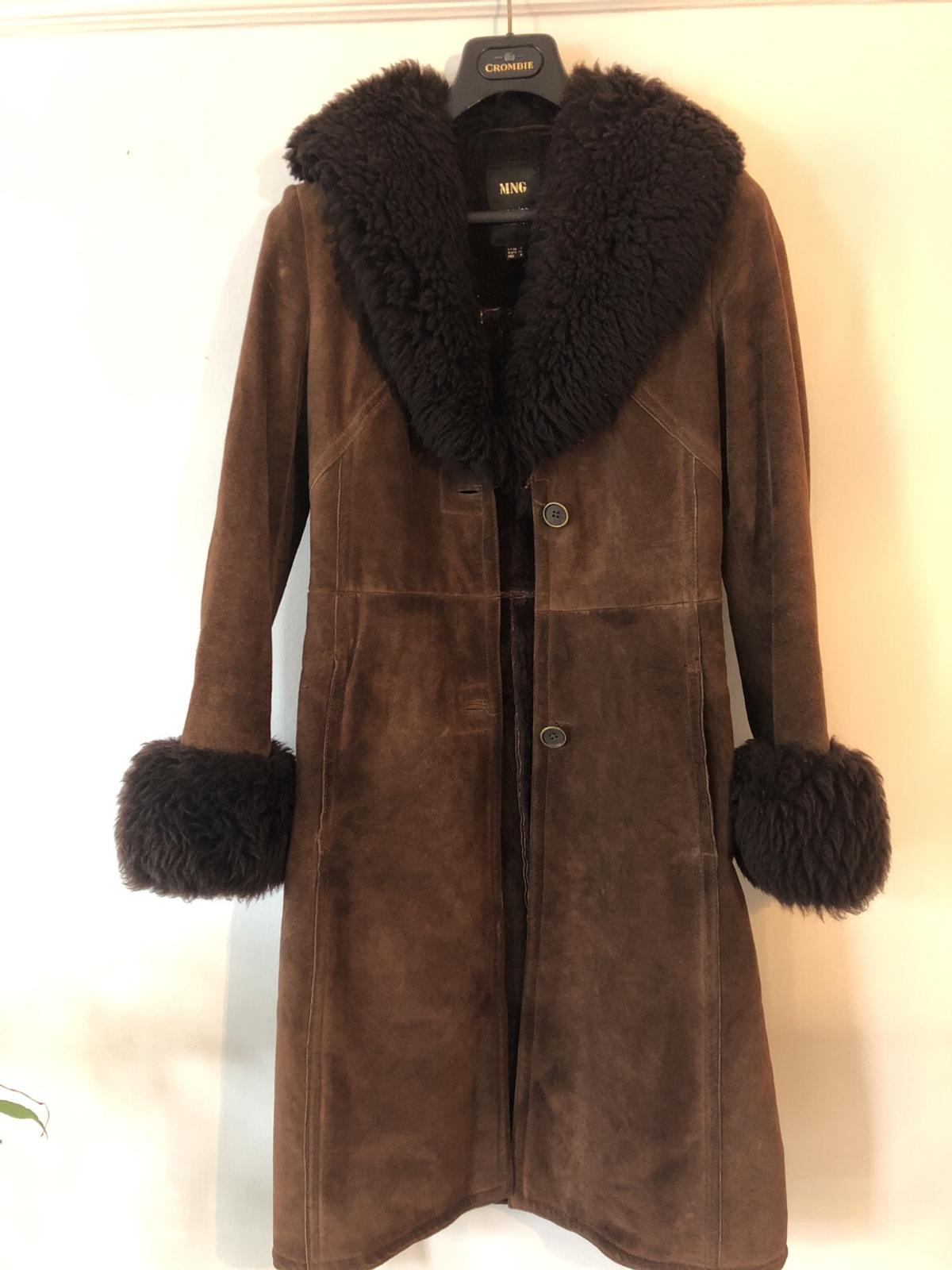 Mango Genuine Leather Coat Size 8 In Sw19 Wandsworth For 15 00 For