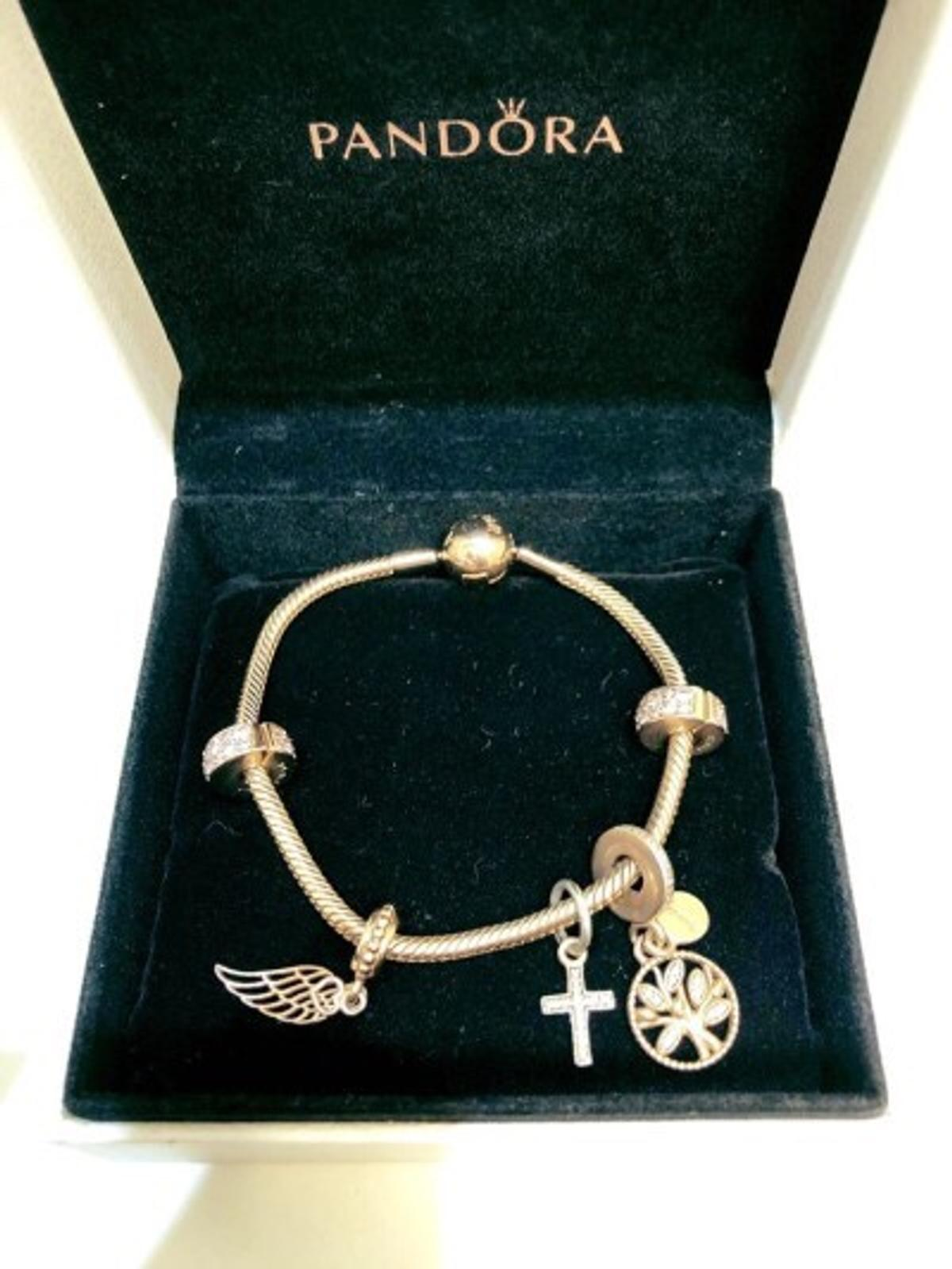 Pandora Rose Gold Bracelet And Charms In Ng25 Sherwood For 195 00 For Sale Shpock