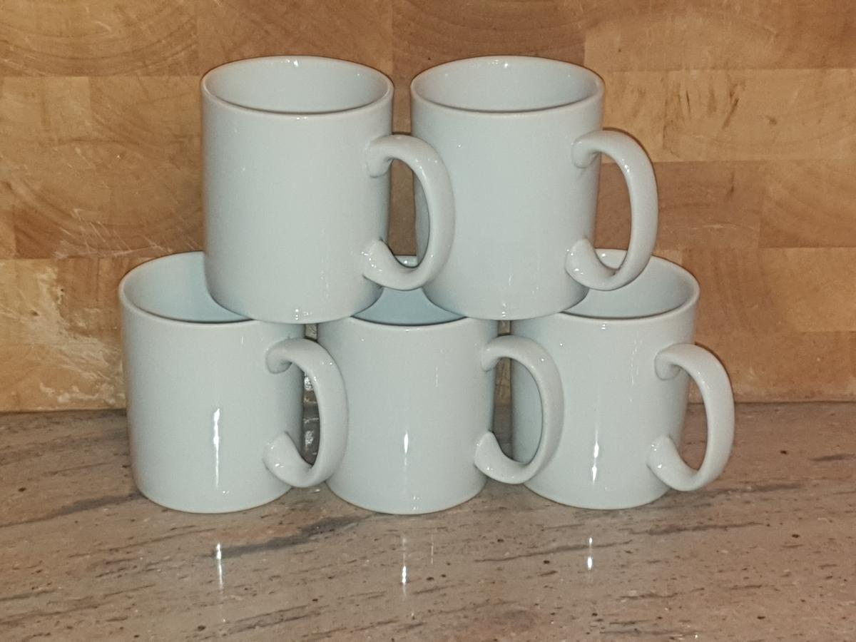Plain White Coffee Mugs Cups 50p Each
