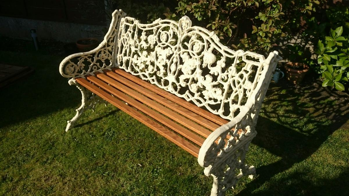 Super Lovely Heavy Antique Cast Iron Garden Bench In Sk6 Stockport Caraccident5 Cool Chair Designs And Ideas Caraccident5Info
