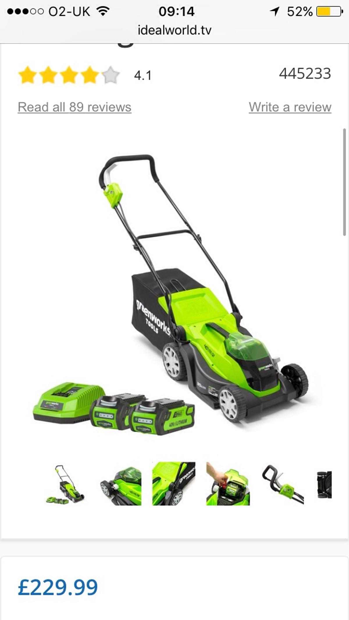 Greenworks battery lawnmower brand new in box