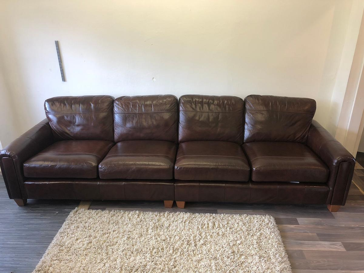 Mark& spencer 4 seat leather sofa in BL1 Bolton for £400.00 ...