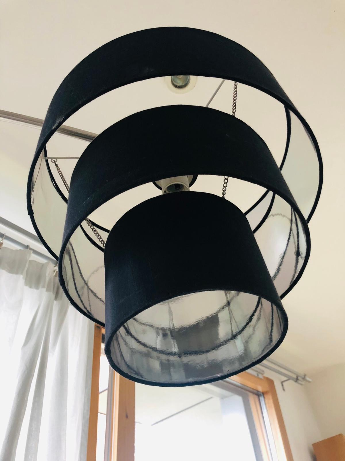 Ceiling Black Tiered Hanging Lamp Shade