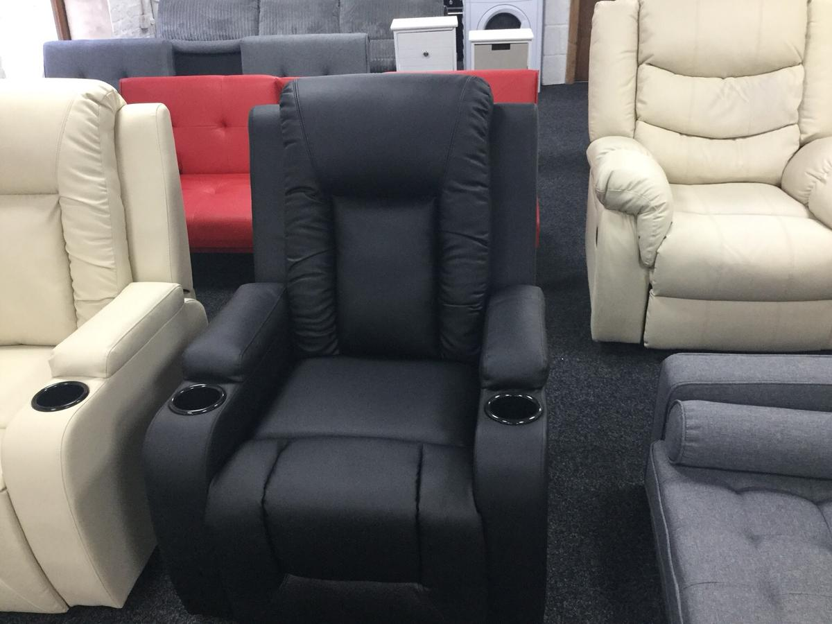 Prime Designer Oscar Black Leather Recliner Onthecornerstone Fun Painted Chair Ideas Images Onthecornerstoneorg