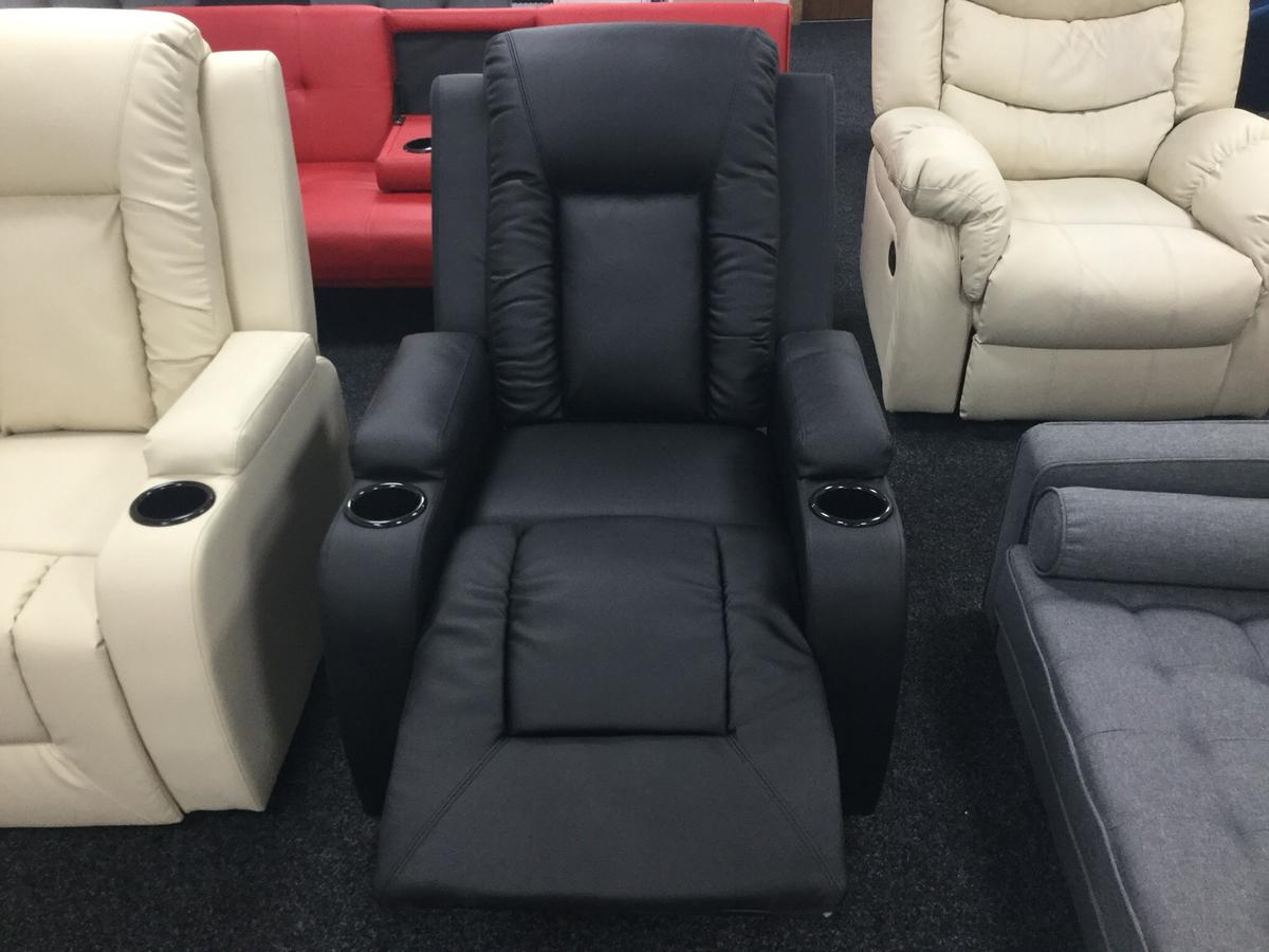 Wondrous Designer Oscar Black Leather Recliner Onthecornerstone Fun Painted Chair Ideas Images Onthecornerstoneorg