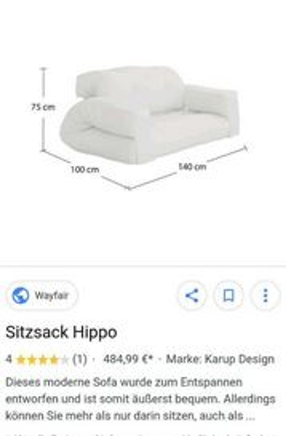 Karup Hippo 2er Sofa 140 X 180 In 50667 Cologne For 98 00 For Sale Shpock