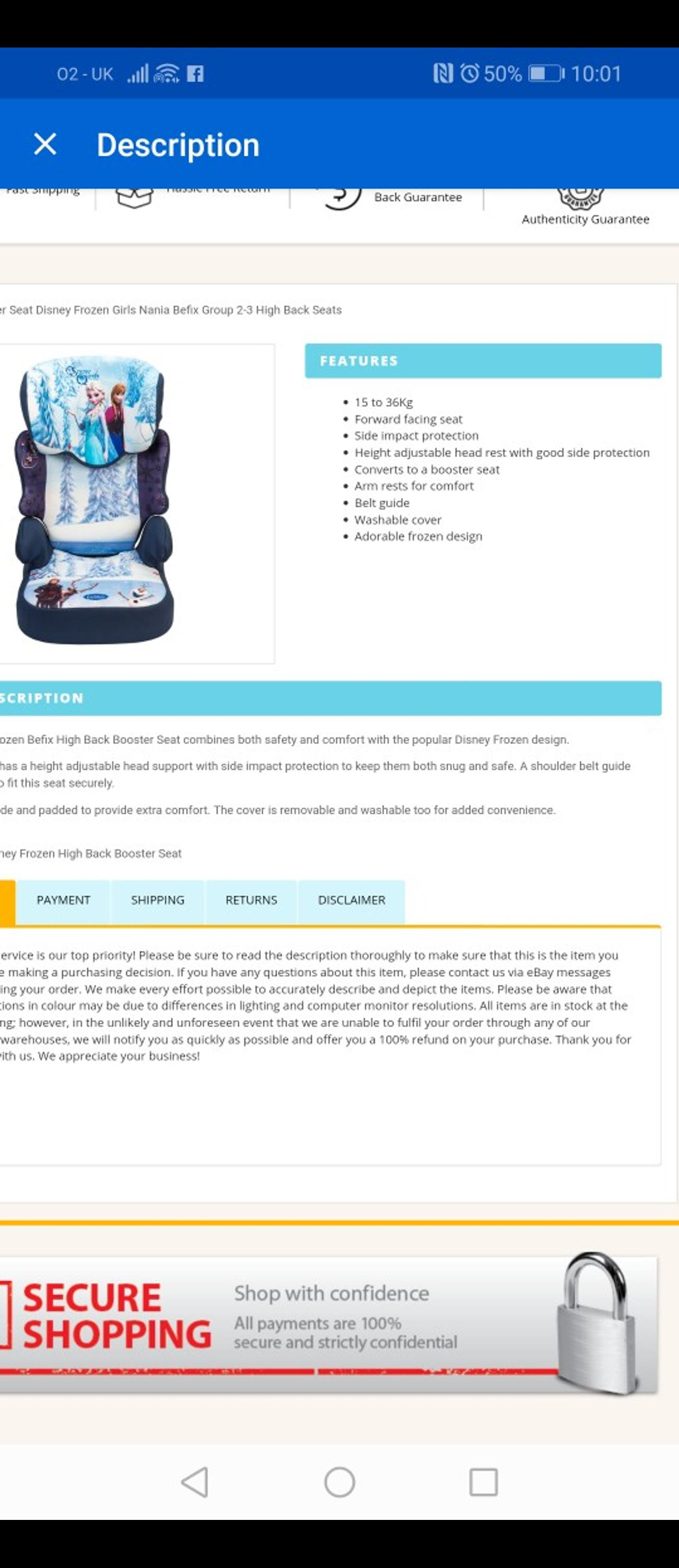 Tremendous Frozen Car Seat In Middlesbrough For 15 00 For Sale Shpock Uwap Interior Chair Design Uwaporg