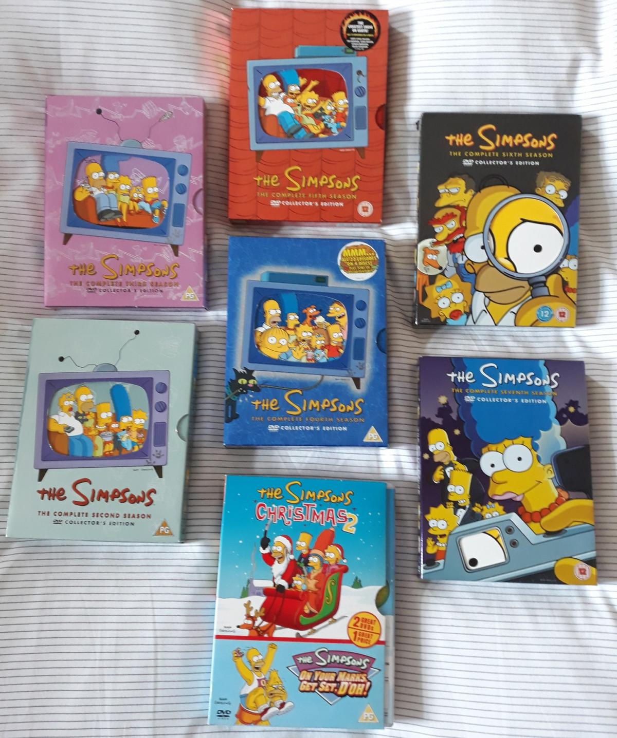 The Simpsons Christmas Dvd.The Simpsons Series 2 3 4 5 6 7 Dvd Boxsets