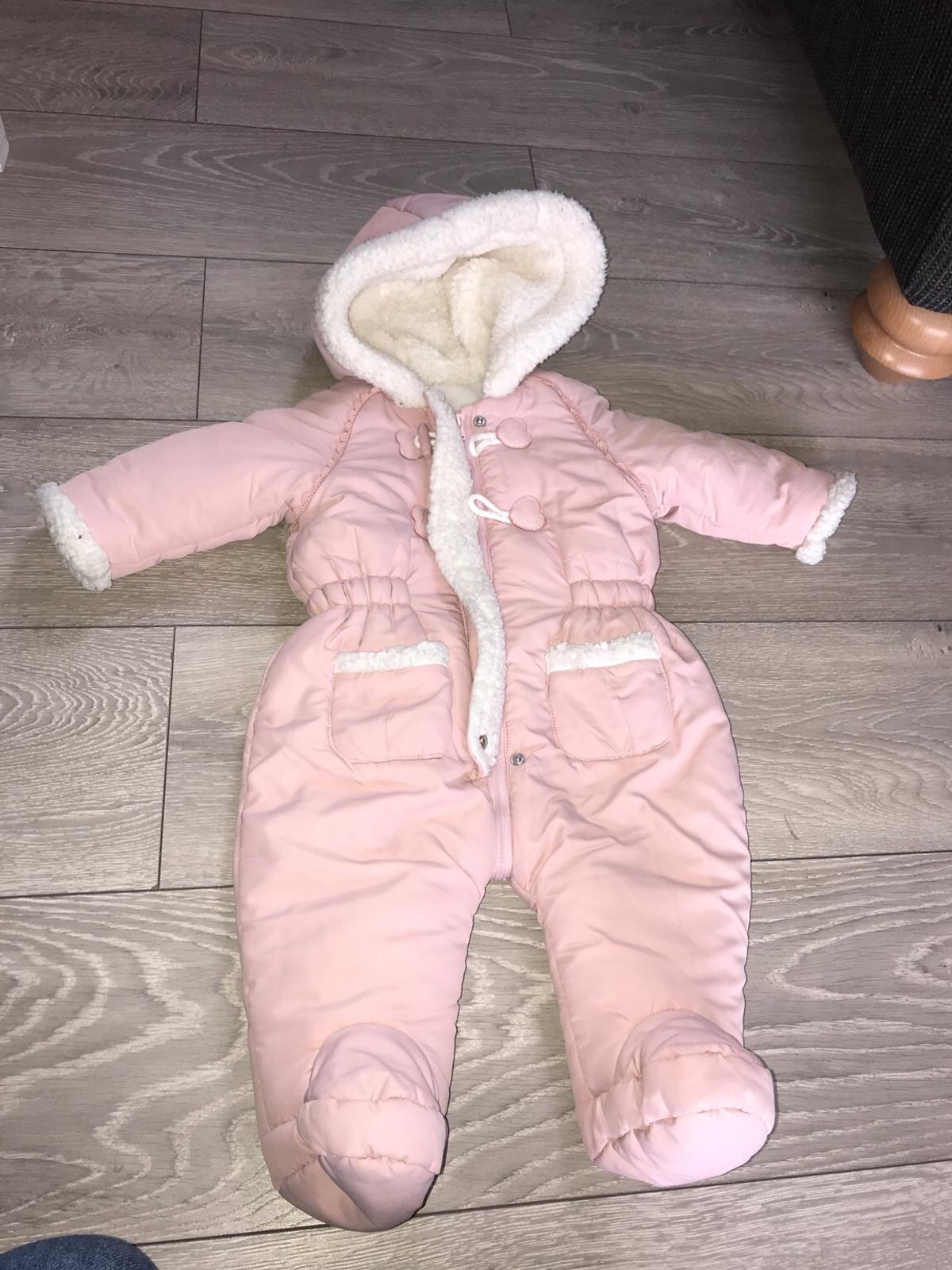 good quality best value large assortment Pink baby snow coat