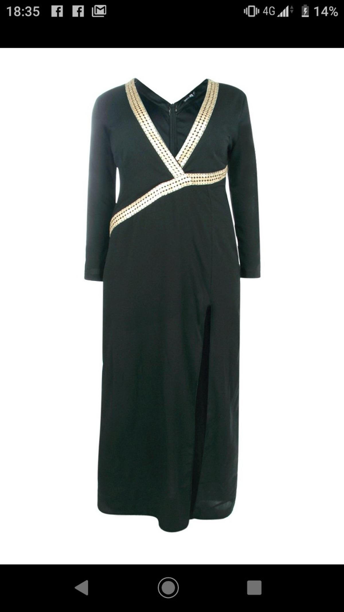 Boohoo Plus Size Black Maxi Dress UK Size 20 in B36 Birmingham for ...