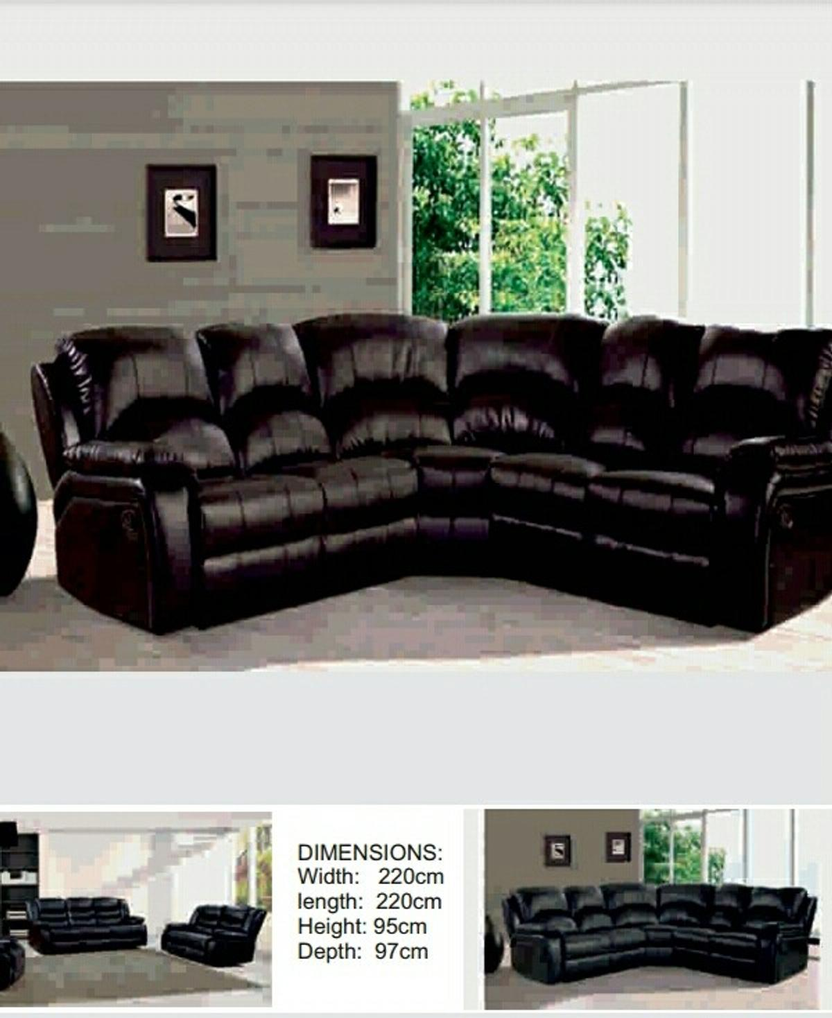 recliner chicago pu leather sofa 3+2/corner in E1 London for ...
