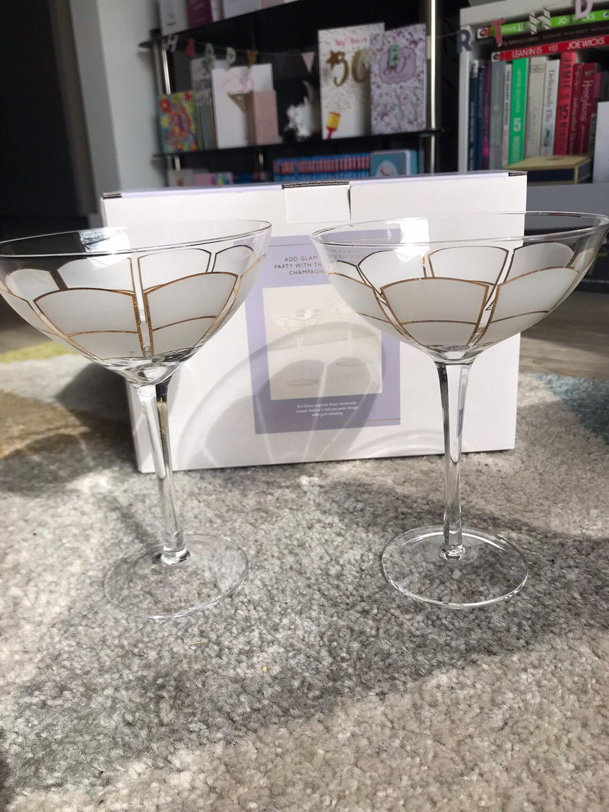 John Lewis Art Deco Decadent Champagne Coupes In Sw9 London For 20 00 For Sale Shpock