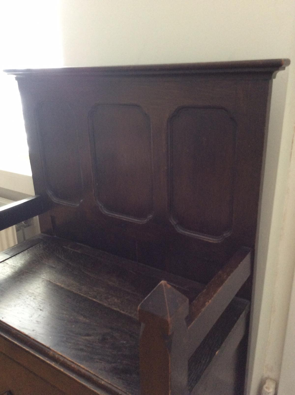 Magnificent Solid Wooden Vintage Settle Storage Bench In Le12 Charnwood Caraccident5 Cool Chair Designs And Ideas Caraccident5Info