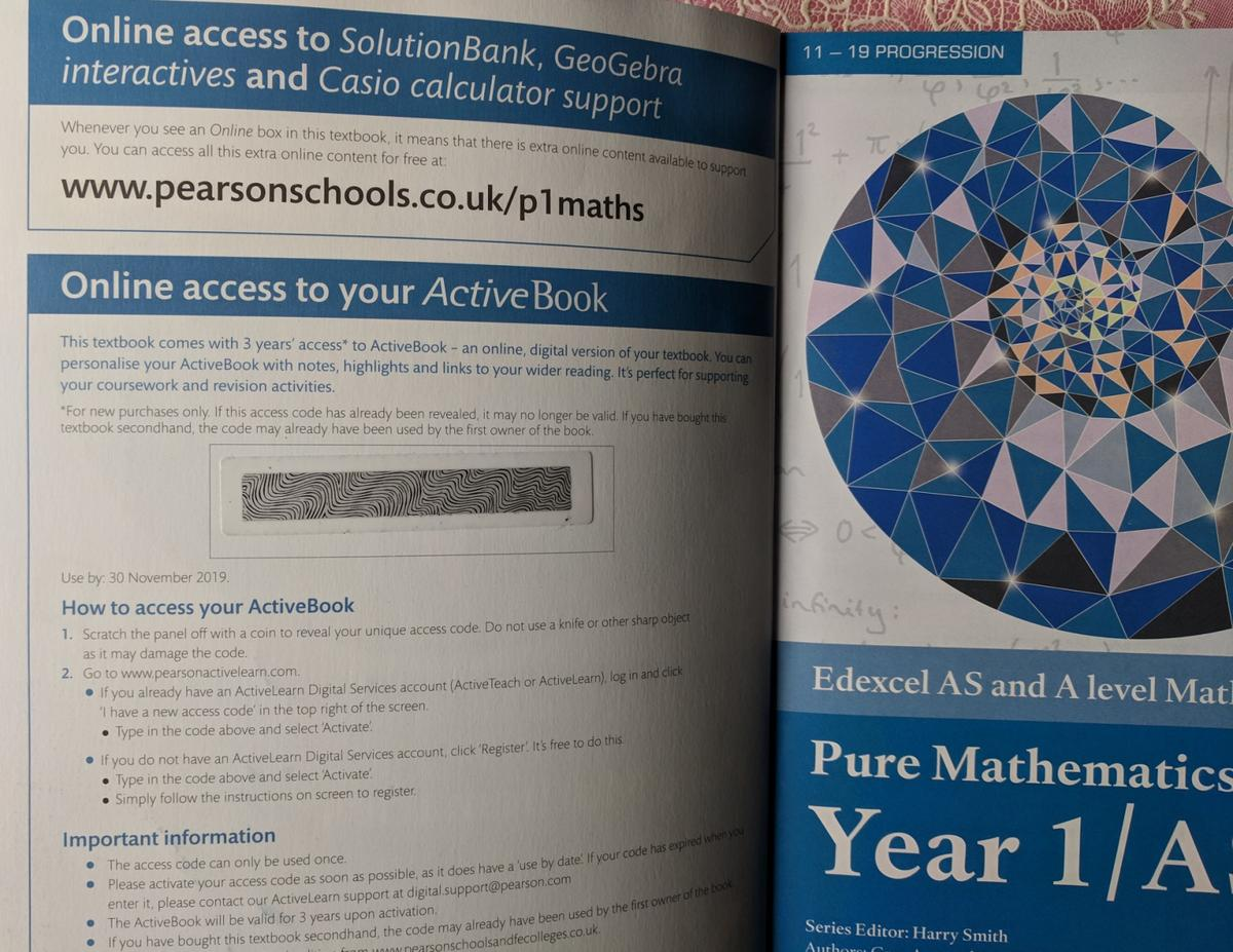 Edexcel A level Maths book in E1W Hamlets for £12 00 for sale - Shpock
