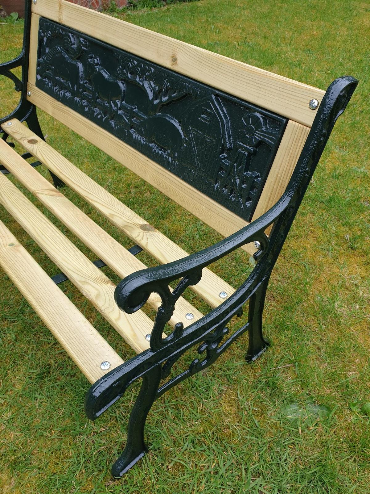 Sensational Childs Vintage Cast Iron Bench In Wf2 Wakefield For 70 00 Caraccident5 Cool Chair Designs And Ideas Caraccident5Info