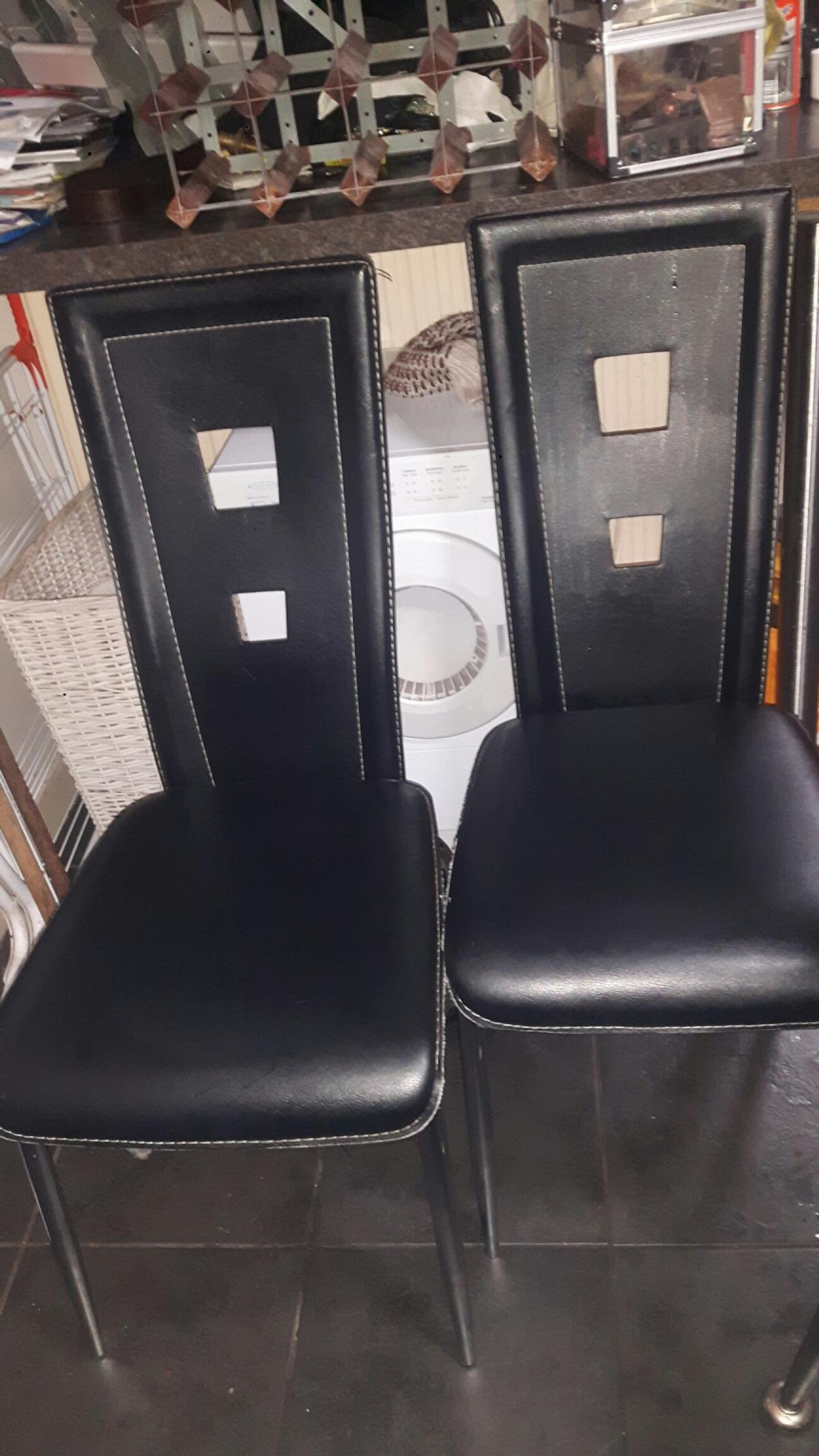 info for 5709c f99f2 2 black high back dining chairs