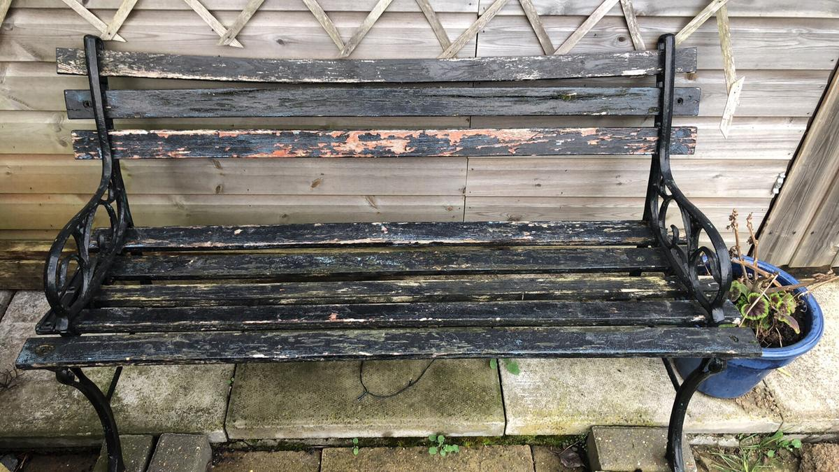 Excellent Cast Iron Garden Bench Tlc Upcycle Project Ncnpc Chair Design For Home Ncnpcorg