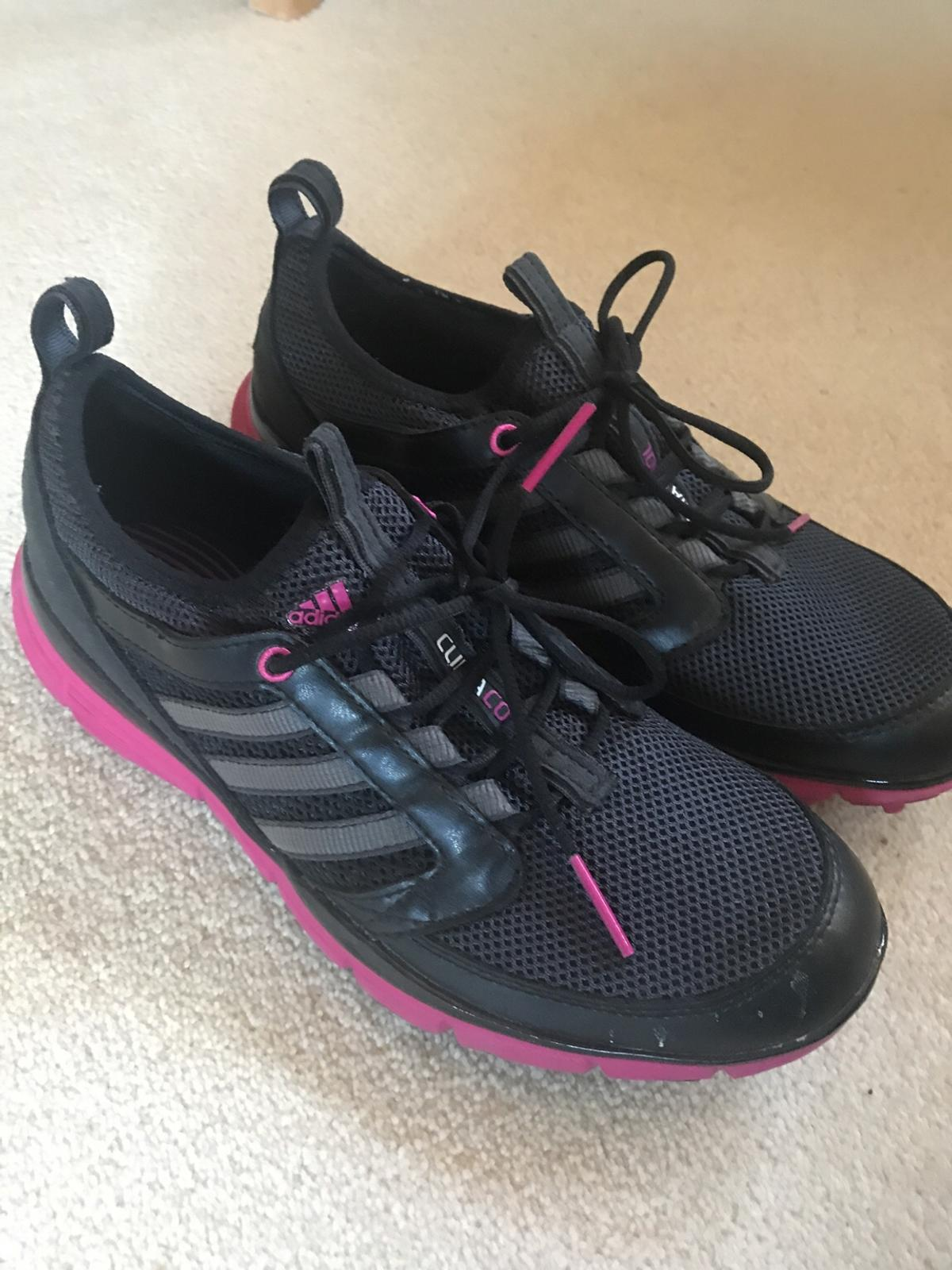 sale retailer 8fe85 a8dae Black Adidas Ladies Trainers size 5