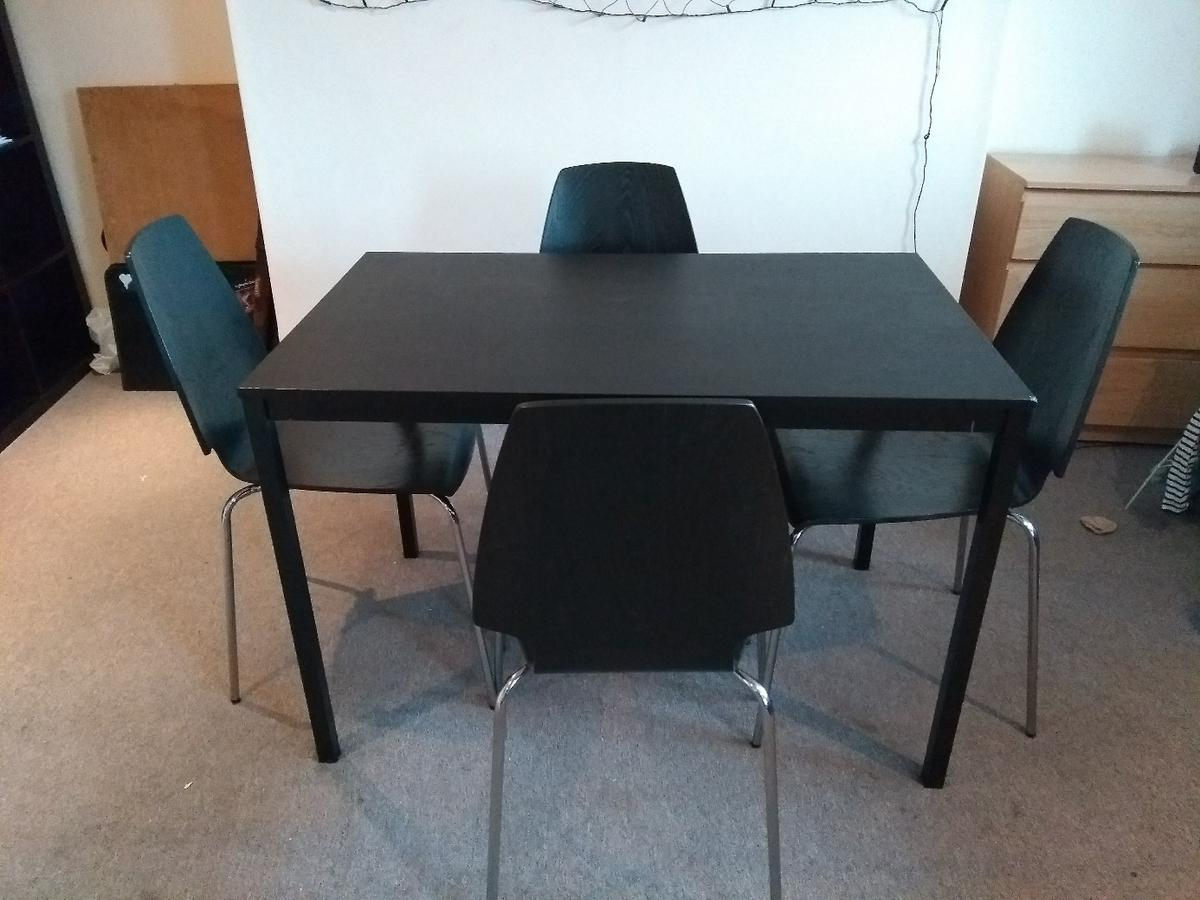 Description Ikea Dining Set With 4 Chairs
