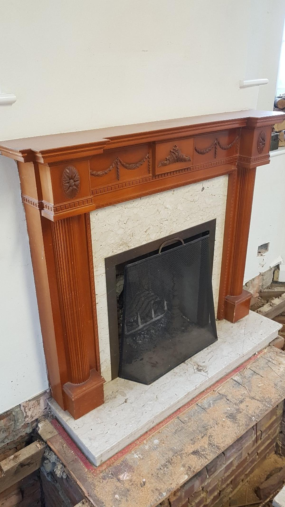 Marble Fireplace Surround With Mantelpiece In Dunstable For 60 00 For Sale Shpock