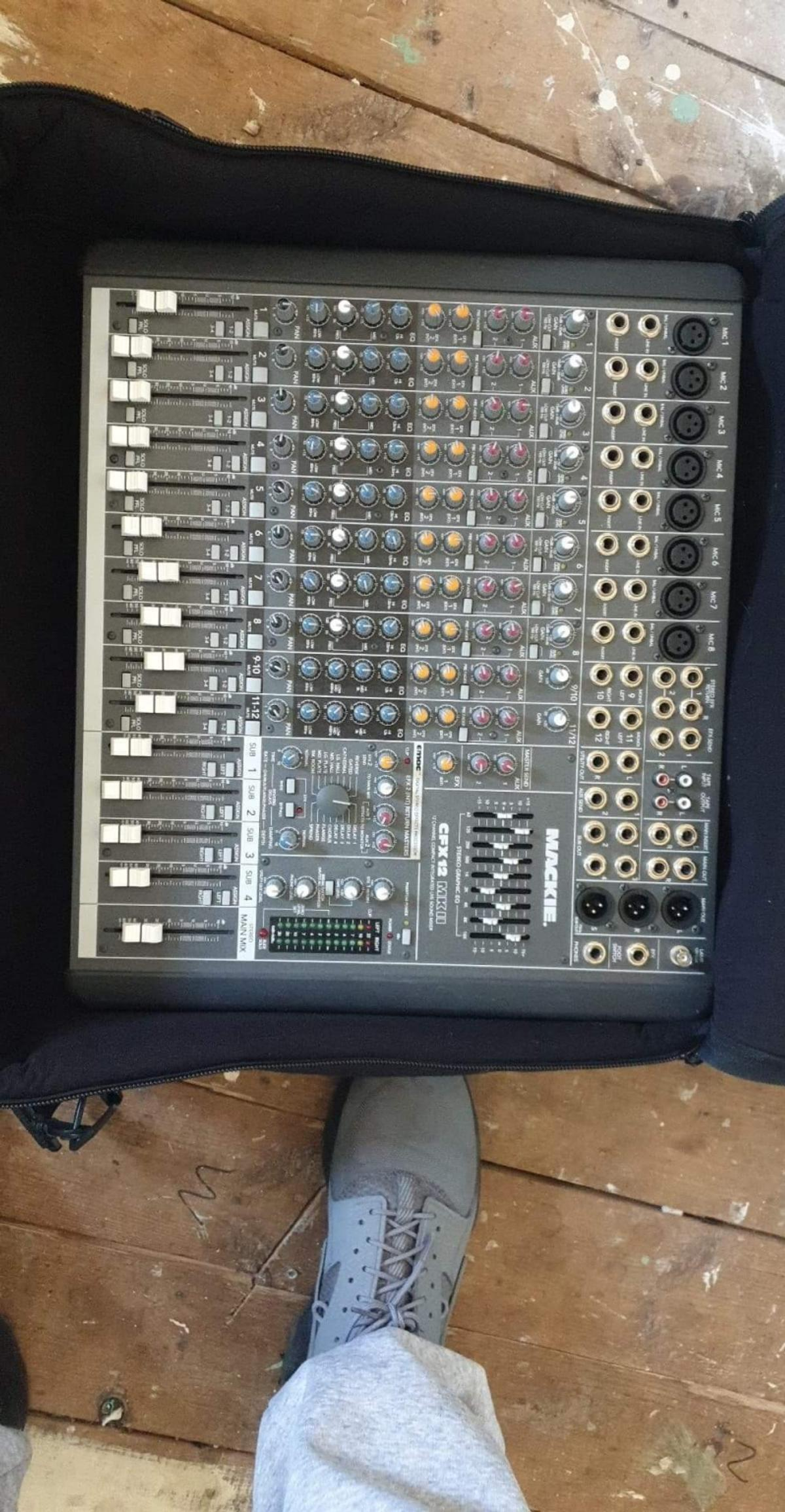 mackie cfx12 mk11 mixer system with boil-in e